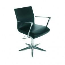 Кресло парикмахерское Aluotis ecoblack, гидравлика