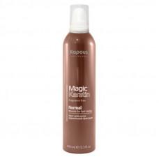 Kapous Professional Magic Keratin Мусс для укладки волос нормальной фиксации с кератином 150 мл