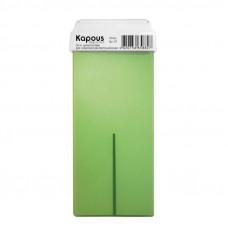 Kapous Professional Жирорастворимый воск с ароматом Киви картридж с широким роликом 100 мл
