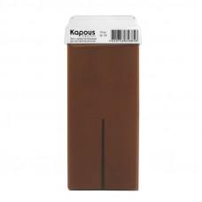 Kapous Professional Жирорастворимый воск с ароматом Шоколада картридж с широким роликом 100 мл