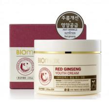 Korea Biomax Крем для молодости кожи с экстрактом красного женьшеня 100 мл